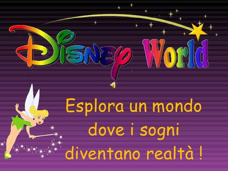Esplora un mondo dove i sogni diventano realtà !