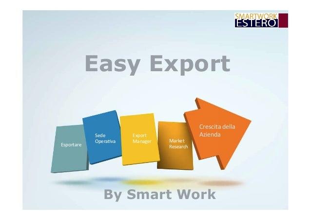 Easy Export Crescitadella Azienda Esportare Sede Opera4va Export Manager Market Research By Smart Work