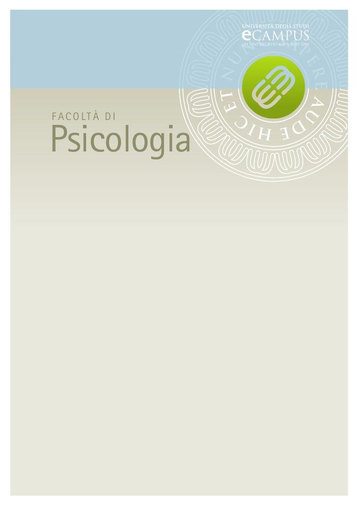 FACOLTÀ DIPsicologia
