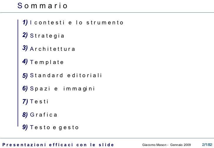 La presentazione efficace con le slide Slide 2