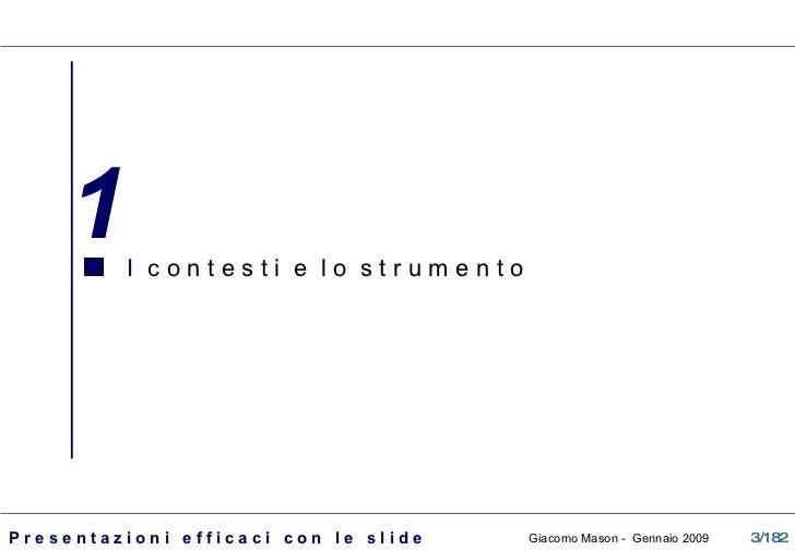 La presentazione efficace con le slide Slide 3