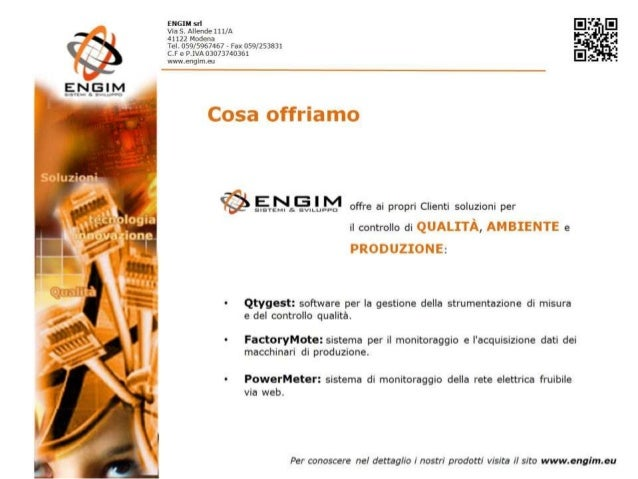 Engim - Presentazione aziendale 2013