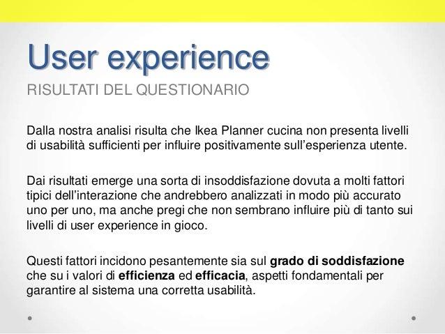Test di usabilità dell\'applicazione web Ikea Planner Cucina