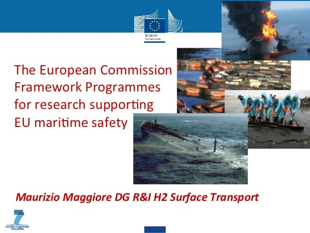 The European Commission  Framework Programmes  for research suppor7ng  EU mari7me safety    ...