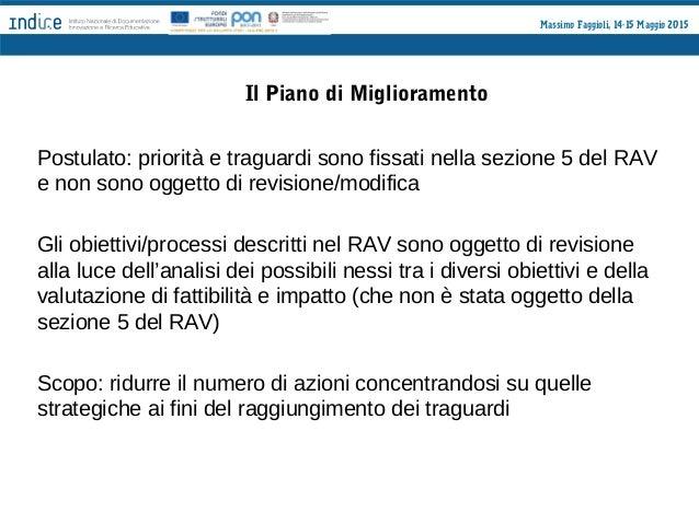 Massimo Faggioli, 14-15 Maggio 2015 Nota 2/3/2015 - DG Ordinamenti Orientamenti per l'elaborazione del Rapporto di Autoval...