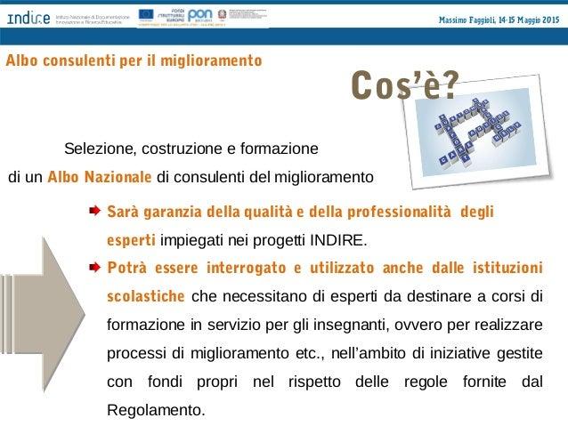 Massimo Faggioli, 14-15 Maggio 2015 Chi Docenti e ricercatori che abbiano maturato titoli ed esperienze attinenti ai proce...