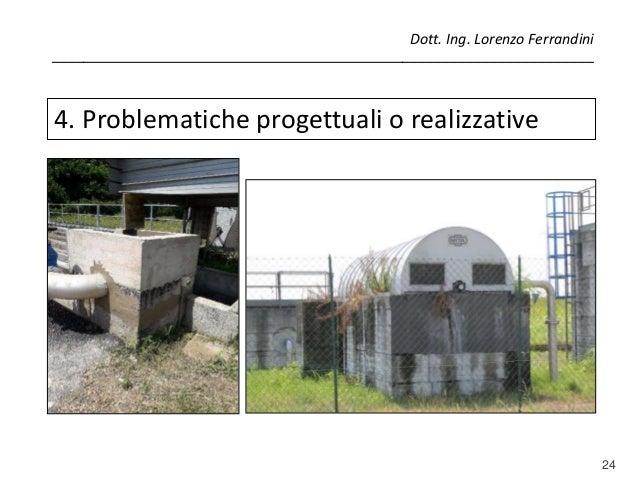 24 4. Problematiche progettuali o realizzative Dott. Ing. Lorenzo Ferrandini _____________________________________________...