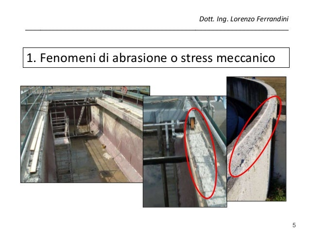 5 1. Fenomeni di abrasione o stress meccanico Dott. Ing. Lorenzo Ferrandini ______________________________________________...