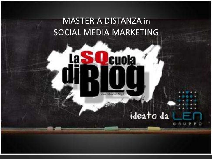 MASTER A DISTANZA inSOCIAL MEDIA MARKETING<br />
