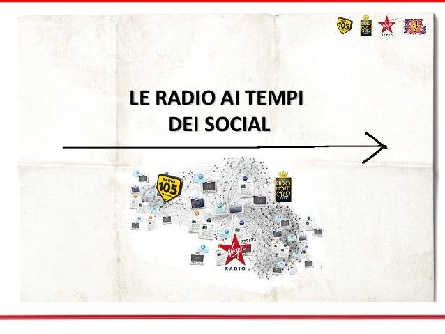 LE RADIO AI TEMPI    DEI SOCIAL