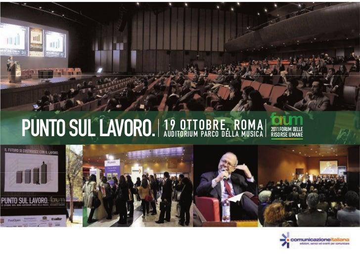 PUNTO SUL LAVORO.   19 OTTOBRE, ROMA                    AUDITORIUM PARCO DELLA MUSICA                                     ...