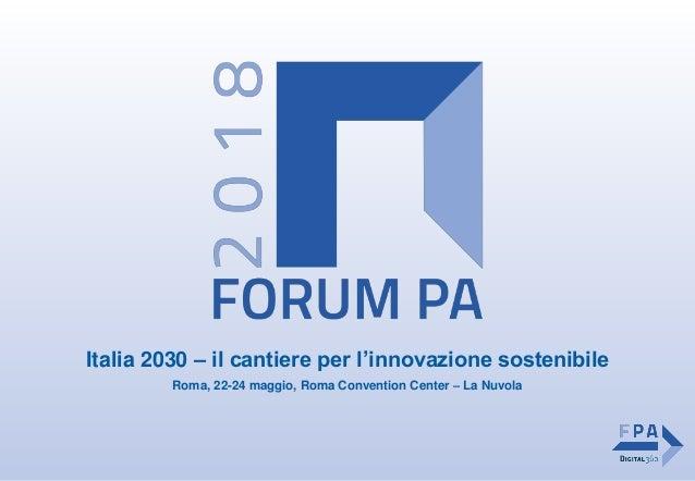 Italia 2030 – il cantiere per l'innovazione sostenibile Roma, 22-24 maggio, Roma Convention Center – La Nuvola