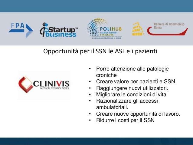 • Porre attenzione alle patologie croniche • Creare valore per pazienti e SSN. • Raggiungere nuovi utilizzatori. • Miglior...