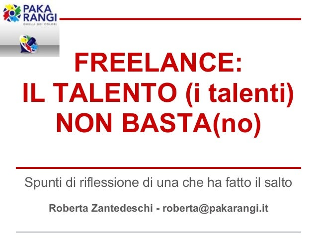 Presentazione freelancecamp 2013