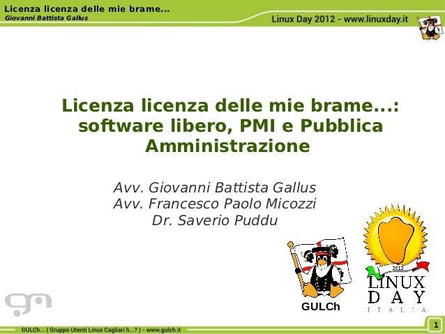 Licenza licenza delle mie brame...Giovanni Battista Gallus                Licenza licenza delle mie brame...:             ...