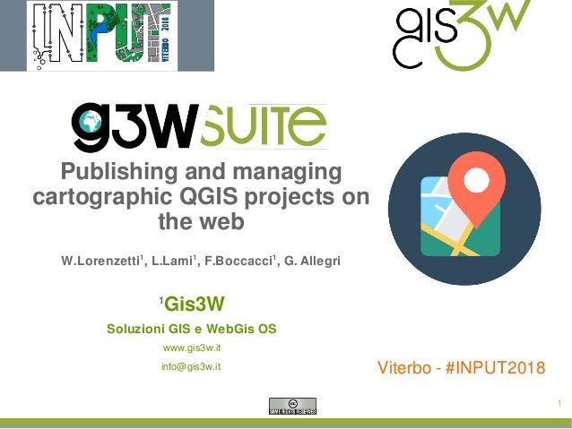 G3W-SUITE: a new OS framework to publish QGIS projects as WebGis serv…