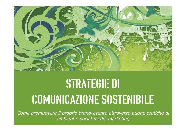 Strategie di Comunicazione Sostenibile