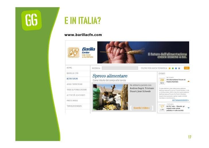 E In italia?www.barillacfn.com                     17