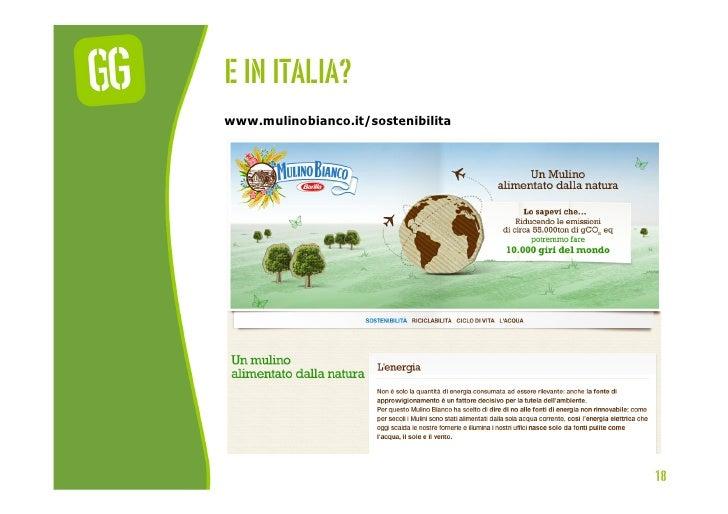 E In italia?www.mulinobianco.it/sostenibilita                                    18