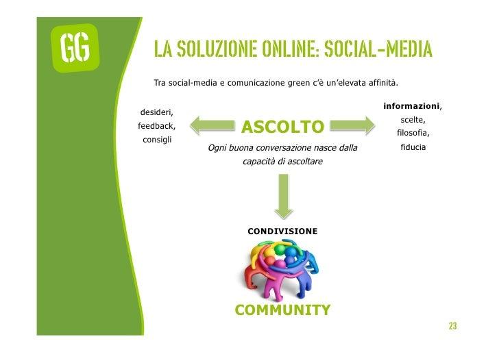 La soluzione online: social-media    Tra social-media e comunicazione green c'è un'elevata affinità.                      ...
