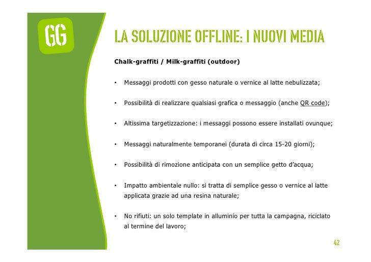 La soluzione offline: I nuovi mediaChalk-graffiti / Milk-graffiti (outdoor)•   Messaggi prodotti con gesso naturale o ver...