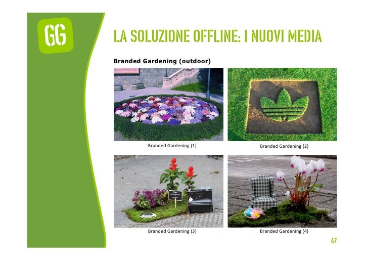 La soluzione offline: I nuovi mediaBranded Gardening (outdoor)         Branded Gardening (1)    Branded Gardening...