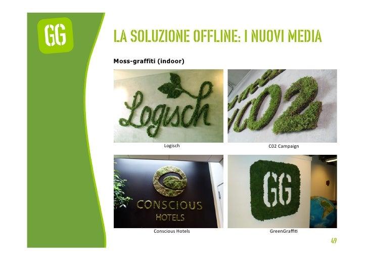 La soluzione offline: I nuovi mediaMoss-graffiti (indoor)                  Logisch          C02 Campaign            ...