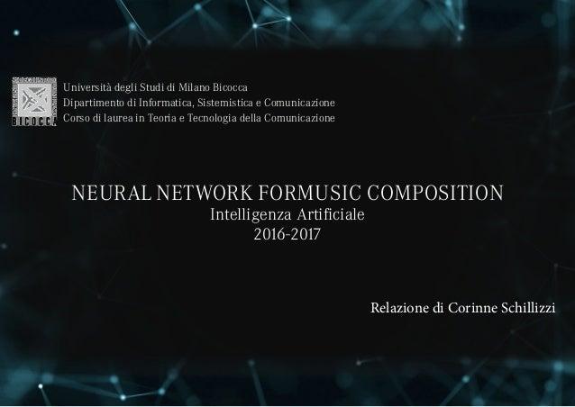 Relazione di Corinne Schillizzi Università degli Studi di Milano Bicocca Dipartimento di Informatica, Sistemistica e Comun...
