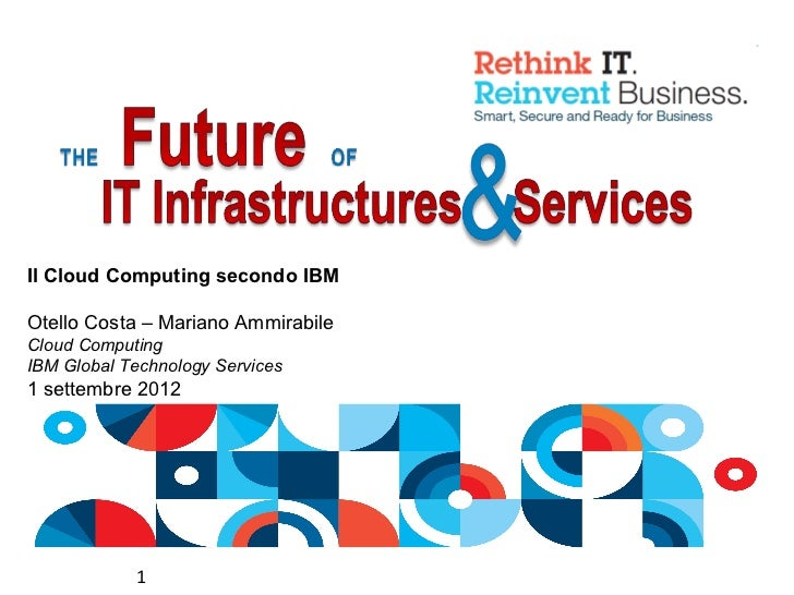 Il Cloud Computing secondo IBMOtello Costa – Mariano AmmirabileCloud ComputingIBM Global Technology Services1 settembre 20...