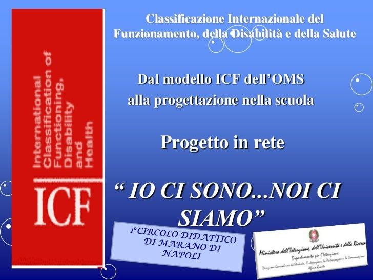 Classificazione Internazionale delFunzionamento, della Disabilità e della Salute    Dal modello ICF dell'OMS  alla progett...