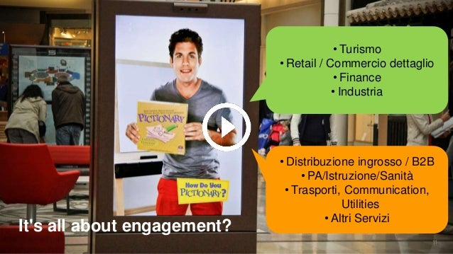 It's all about engagement? • Turismo • Retail / Commercio dettaglio • Finance • Industria • Distribuzione ingrosso / B2B •...