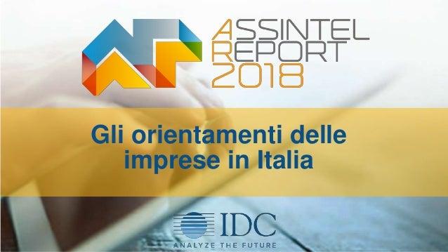 Gli orientamenti delle imprese in Italia 9