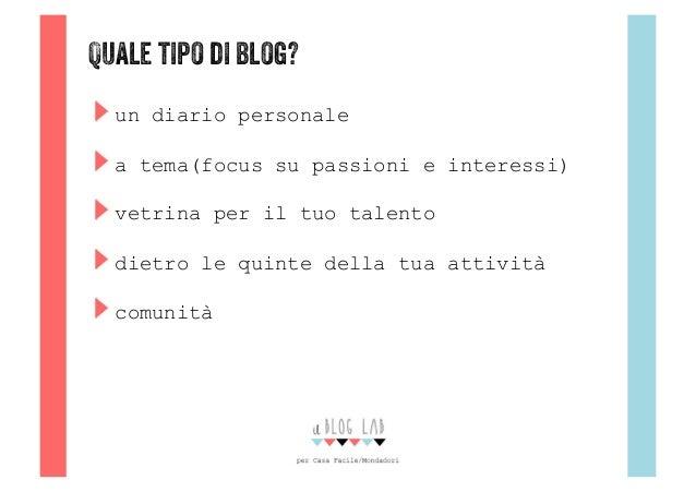 Crea il tuo blog con casafacile e ilbloglab for Crea il tuo progetto di casa
