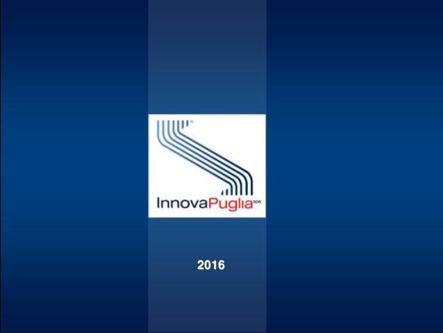 InnovaPuglia 2016 – Attività 2015-2017 2016