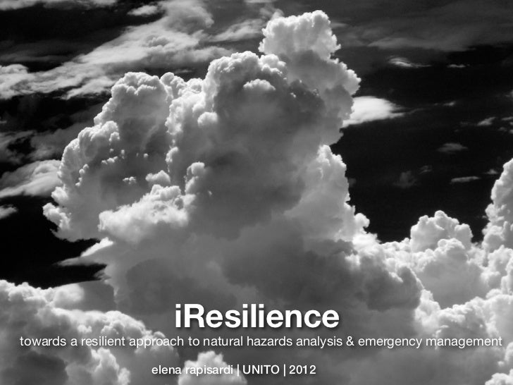 iResiliencetowards a resilient approach to natural hazards analysis & emergency management                     elena rapis...