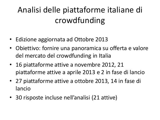 Analisi sul crowdfunding italiano Ivana Pais) Slide 2