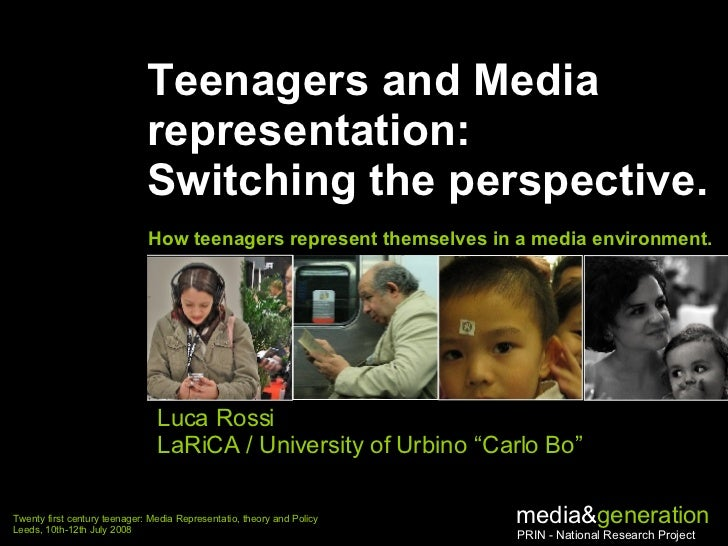 Teenagers and Media representation:  Switching the perspective. How teenagers represent themselves in a media environment....