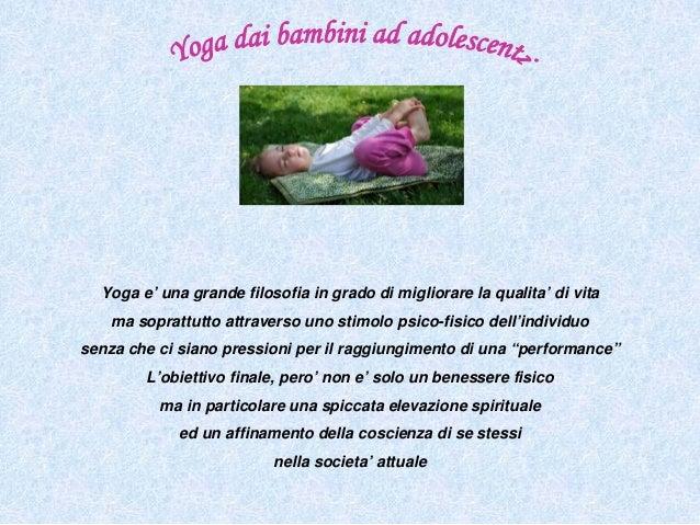 Presentazione l'essenza in noi yoga da bambini ed adolescenti Slide 2