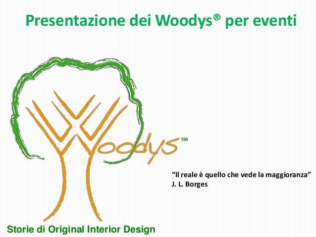"""Presentazione dei Woodys® per eventi                                     """"Il reale è quello che vede la maggioranza""""      ..."""