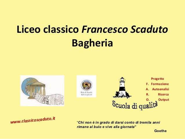Liceo classico Francesco Scaduto               Bagheria                                                                   ...