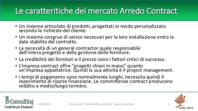 Reti d'impresa e Arredo Contract Slide 2