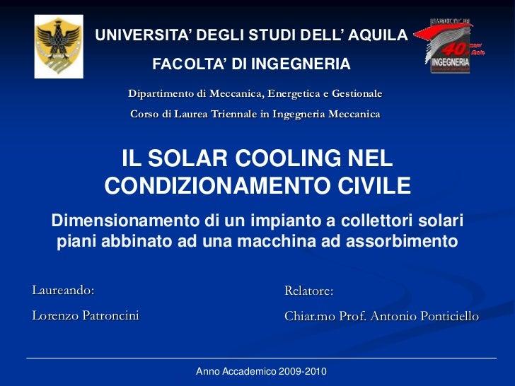 UNIVERSITA' DEGLI STUDI DELL' AQUILA                     FACOLTA' DI INGEGNERIA                Dipartimento di Meccanica, ...