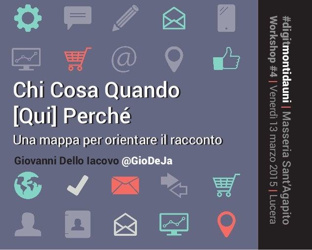 #digitmontidauni|MasseriaSant'Agapito Workshop#4|Venerdì13marzo2015|Lucera Chi Cosa Quando [Qui] Perché Una mappa per orie...
