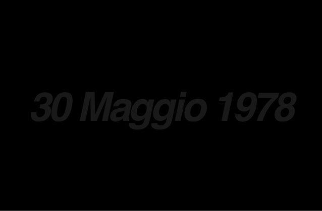 30 Maggio 1978