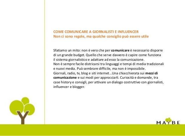 Come comunicare a giornalisti e influencer Slide 2