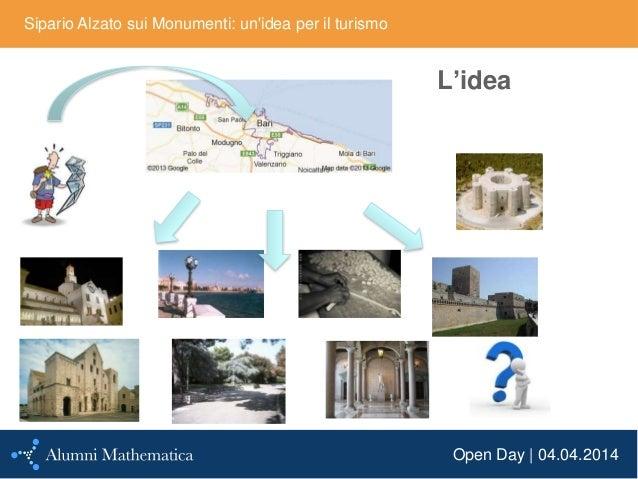 Open Day | 04.04.2014 Sipario Alzato sui Monumenti: un'idea per il turismo L'idea