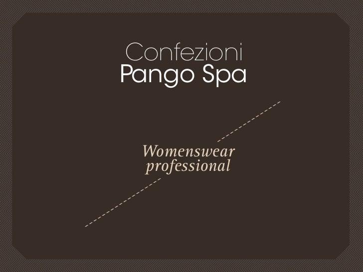 Confezionipango spa Womenswear professional