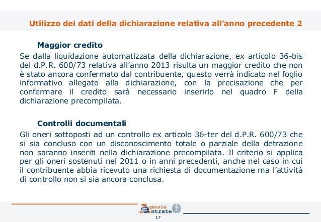 La dichiarazione precompilata l innovazione del modello for Spese arredo immobili ristrutturati
