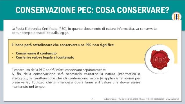 La conservazione dei messaggi pec for Conservazione bollette