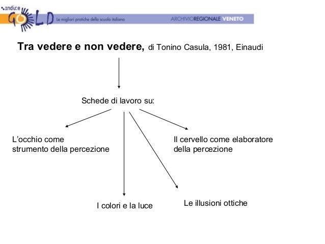 Tra vedere e non vedere, di Tonino Casula, 1981, Einaudi Schede di lavoro su: L'occhio come strumento della percezione Il ...